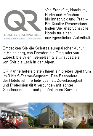 QR-Partner hotels offer a wide range of 3 to 5 star hotels, characterized for being reliable and acting professionally, always having hospitality and individual service in mind.